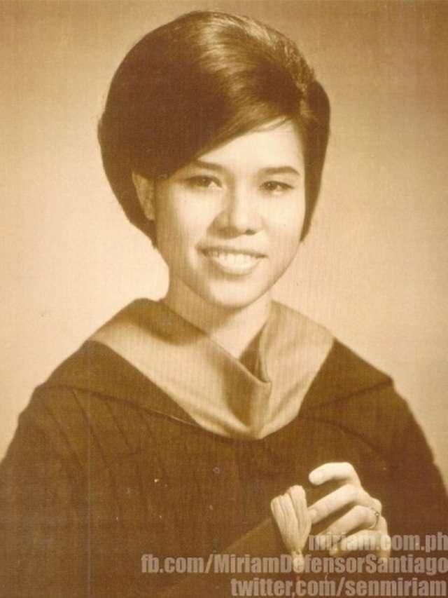 Miriam Defensor Santiago - early life