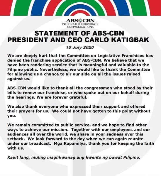 Reject ABS-CBN Franchise