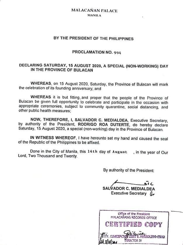 Happy 442nd Bulacan Founding Anniversary, mga ka-Bulakenyo! 1