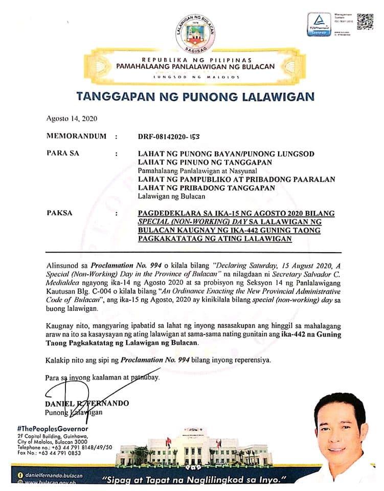 Happy 442nd Bulacan Founding Anniversary, mga ka-Bulakenyo! 2