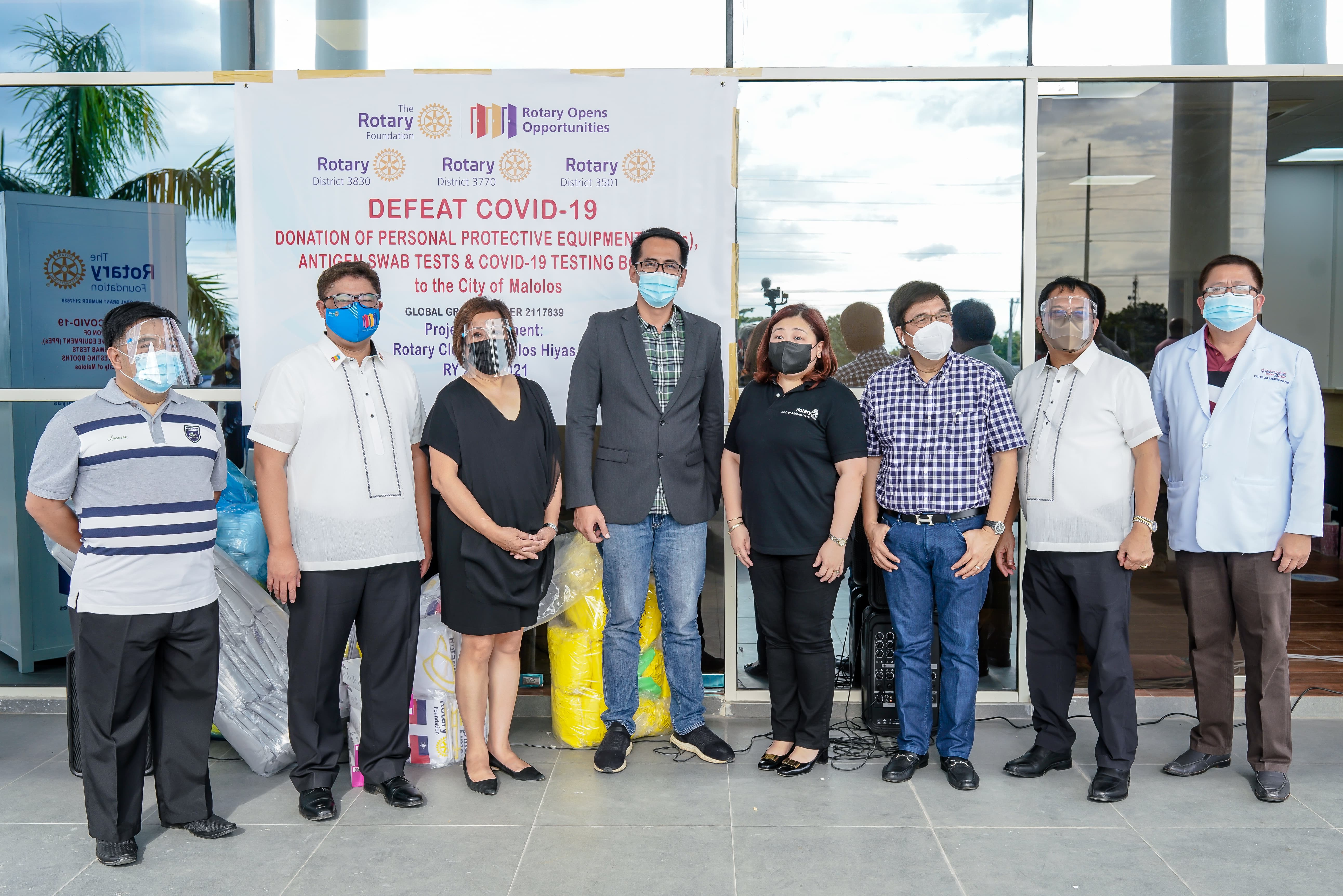 Rotary Club of Malolos Hiyas donates PhP1.5M worth of COVID Test Booths, Antigen Swab Kits, and PPEs to City of Malolos 1
