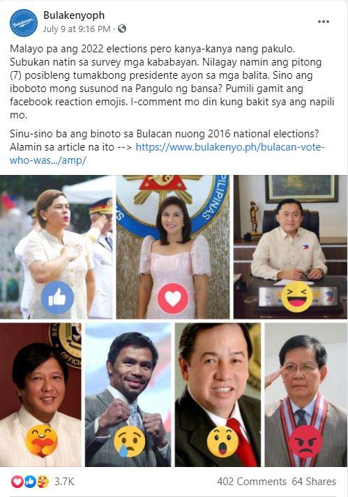 Pre-election Presidential Poll